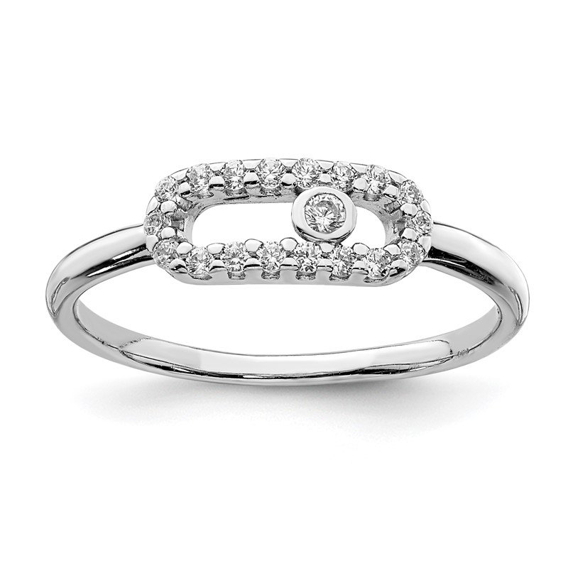 Quality Gold Sterling Silver Rhodium Plated CZ Ring
