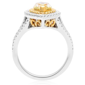 Marquise Cut Yellow Diamond Ring