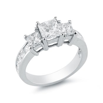 1 1/2cttw Three Stone Diamond Ring