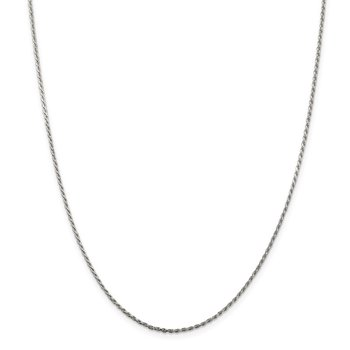 Sterling Silver 1.5mm Diamond-cut Rope Chain