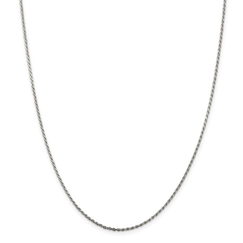 Quality Gold Sterling Silver 1.5mm Diamond-cut Rope Chain
