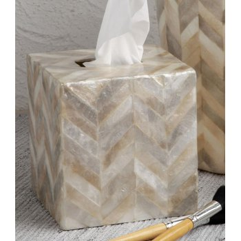 Boutique Tissue Box, Herringbone