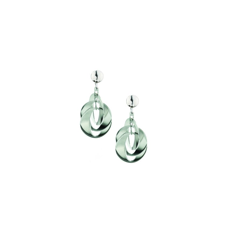 Frederic Duclos Layered Ovals Earrings