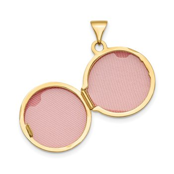 14k Polished Domed 16mm Round Locket