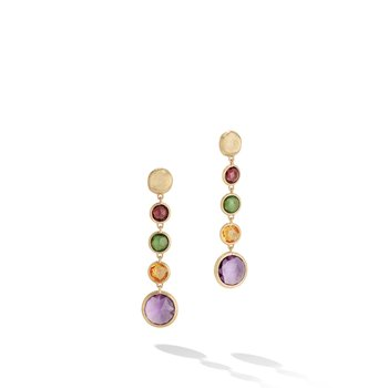 Jaipur Mixed Gemstones Drop Earrings
