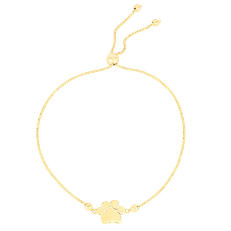 Royal Chain 14K Gold Paw Print Friendship Bracelet