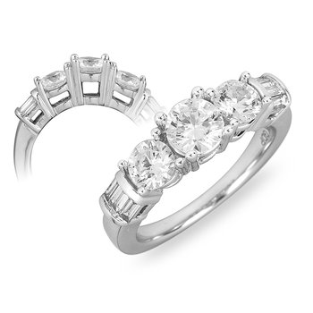14K WG & PD Diamond Engagement Ring PPF