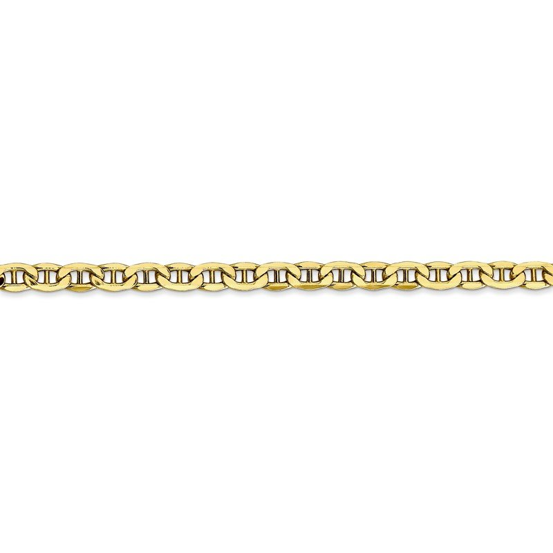 Quality Gold 10k 4mm Semi-Solid Anchor Chain