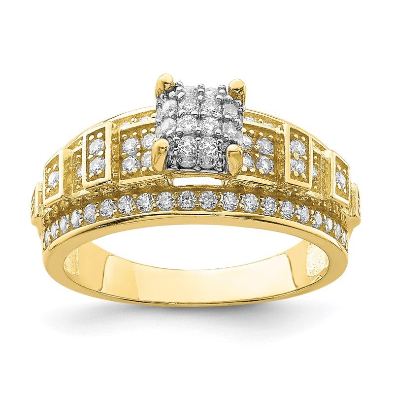 Quality Gold 10K CZ Micropave Ring