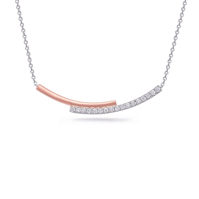 S. Kashi  & Sons White & Rose Gold Diamond Necklace