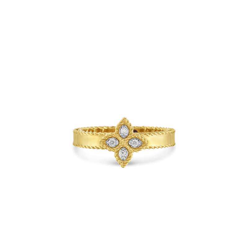 Roberto Coin 18KT GOLD SMALL RING WITH DIAMONDS