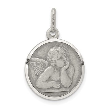 Sterling Silver Antiqued Raphael Angel Charm