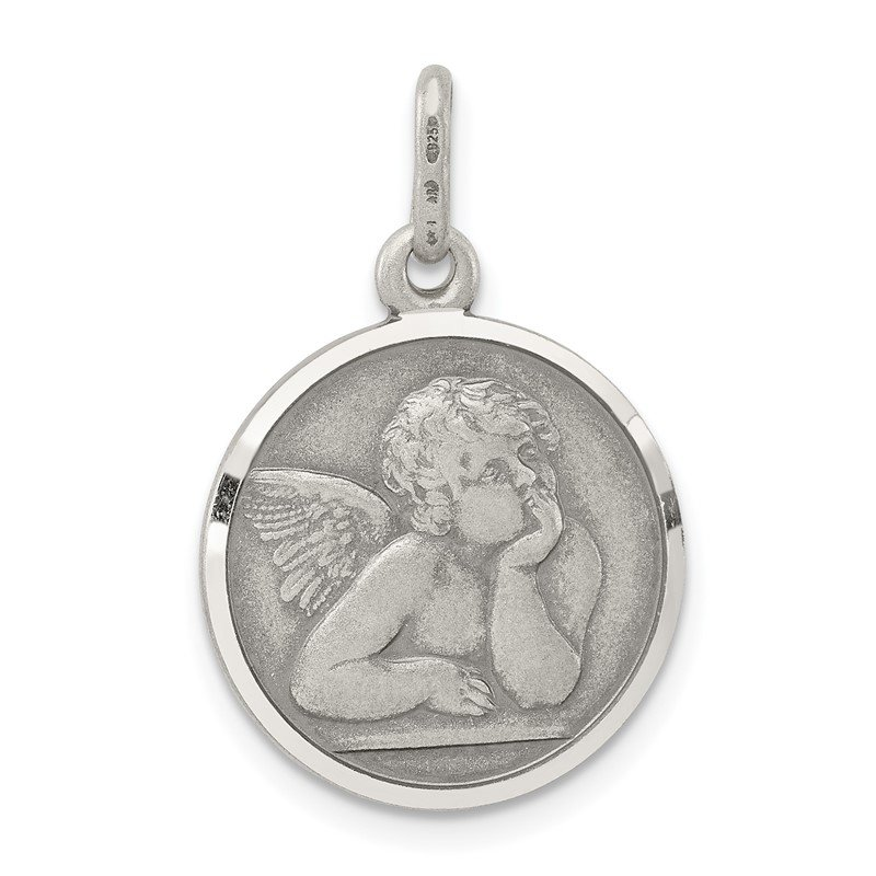 Quality Gold Sterling Silver Antiqued Raphael Angel Charm