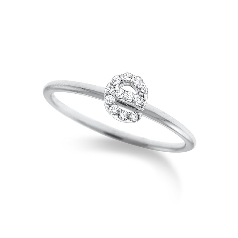 "KC Designs Diamond Typewriter Initial ""E"" Ring"