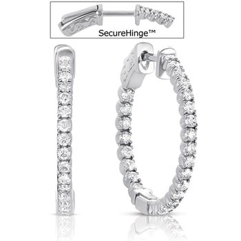 3/4 inch Securehinge Hoop Earring
