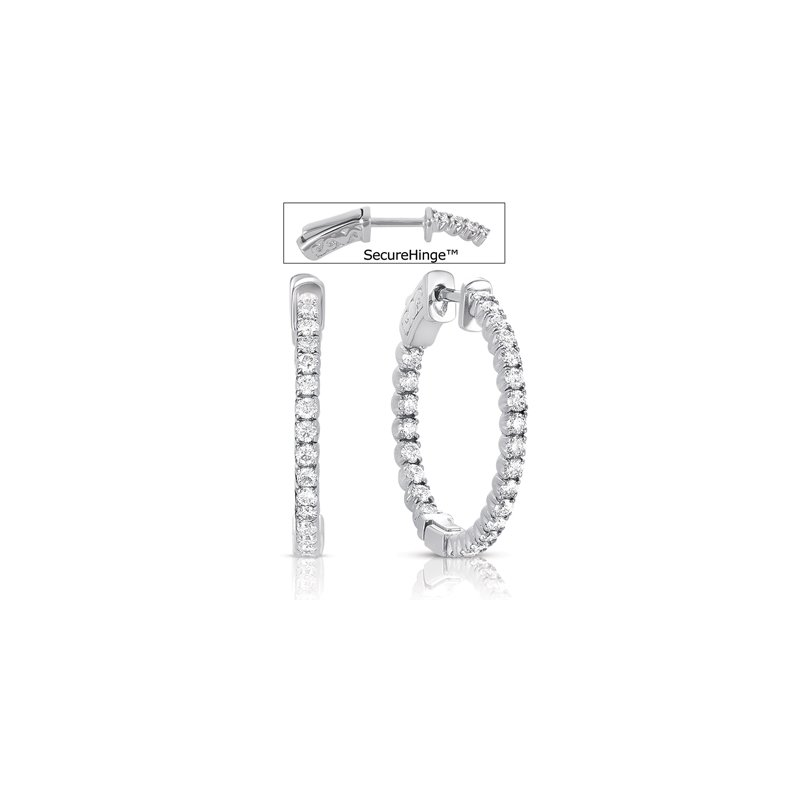 S. Kashi  & Sons 3/4 inch Securehinge Hoop Earring
