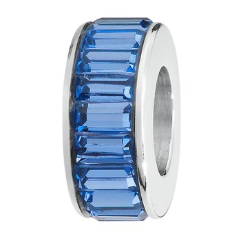 316L stainless steel and Swarovski® Elements sapphire crystals