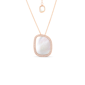Small Pendant With Mother Of Pearl And Diamonds