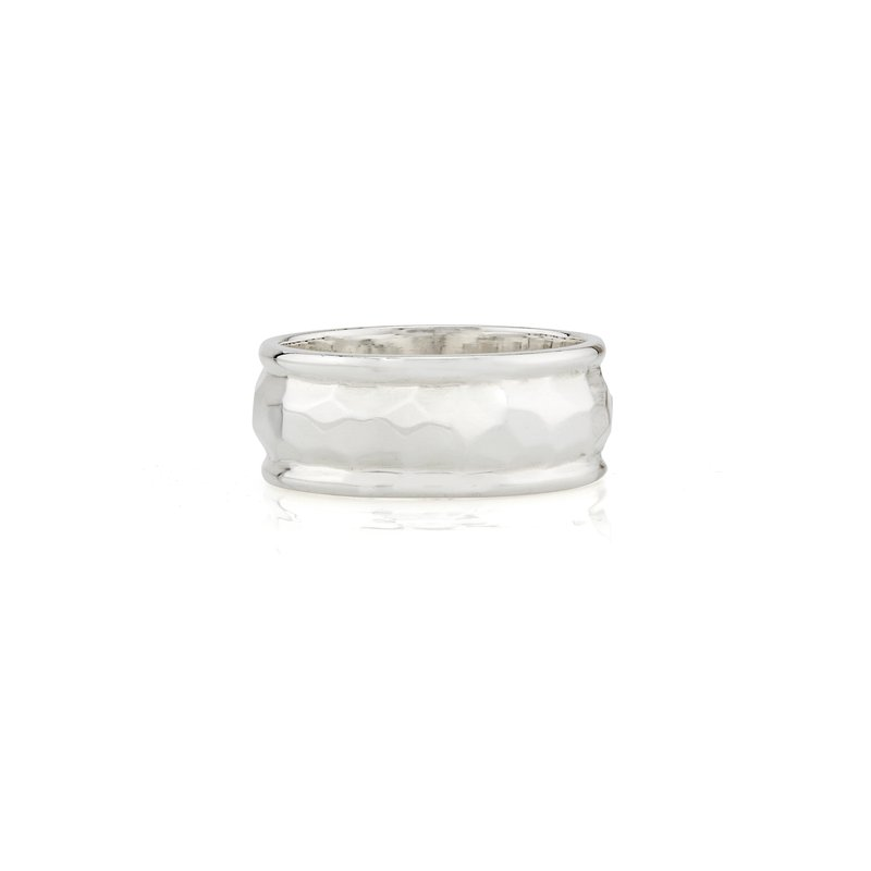 Anna Beck Hammered Band Ring - Silver