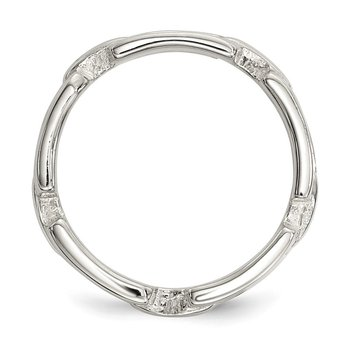 Sterling Silver Polished Fancy Link Ring