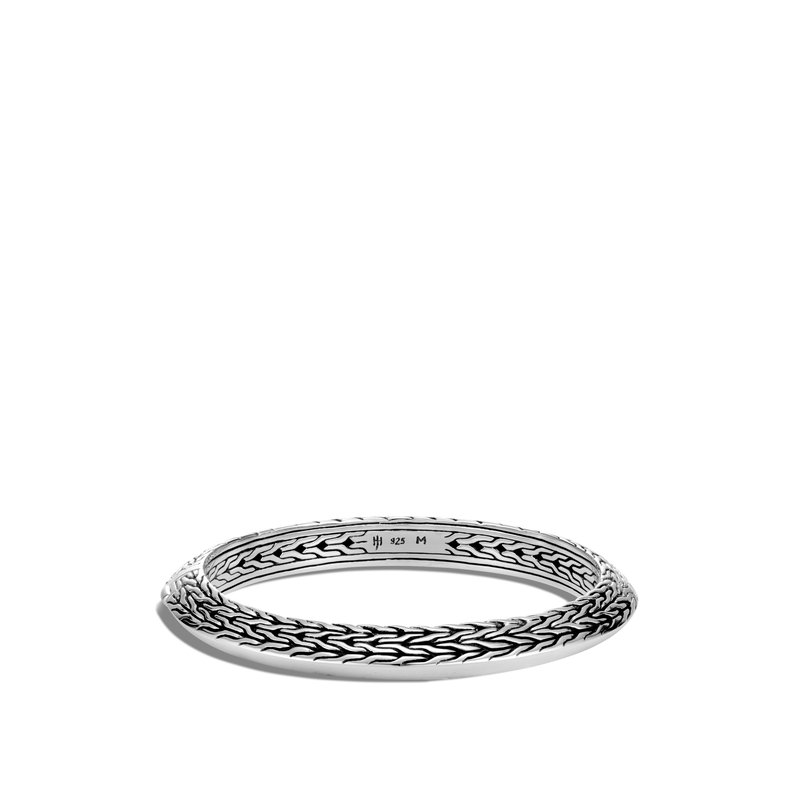 John Hardy Classic Chain Knife Edge 8MM Hinged Bangle in Silver. Available at our Halifax Store.