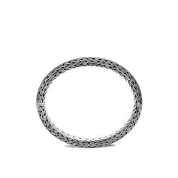 Classic Chain Knife Edge 8MM Hinged Bangle in Silver. Available at our Halifax Store.