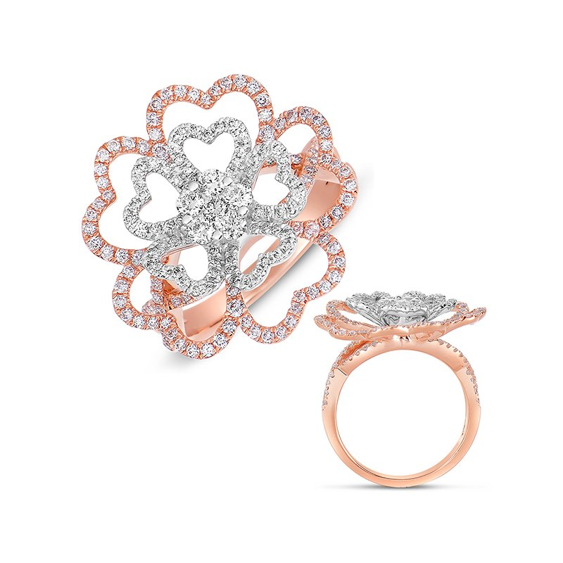 S. Kashi  & Sons Rose & White Gold Fashion Diamond Ring