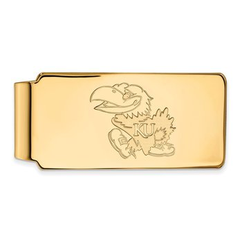 Gold-Plated Sterling Silver University of Kansas NCAA Money Clip