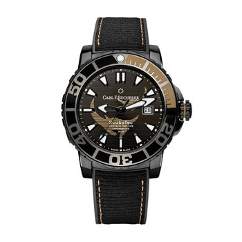 Patravi ScubaTec 45mm Black Manta Special Edition Mens Watch