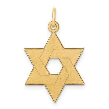 14K Laser Designed Star of David Pendant
