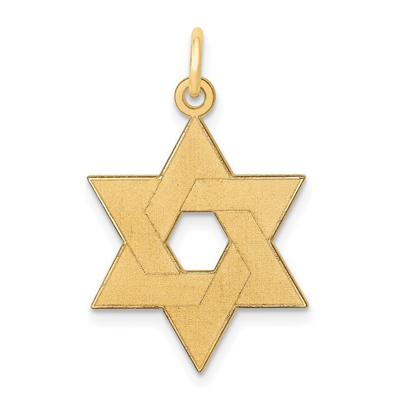 JC Sipe Essentials 14K Laser Designed Star of David Pendant