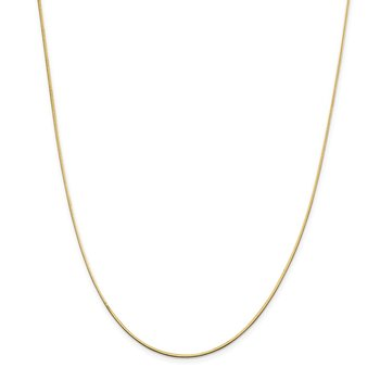 14k 1.4mm Octagonal Snake Chain