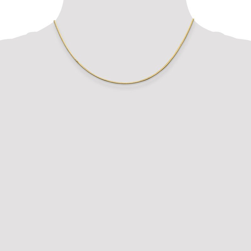 Quality Gold 14k 1.4mm Octagonal Snake Chain