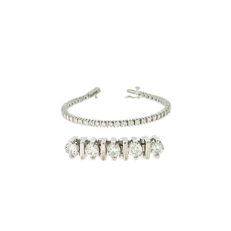 S. Kashi  & Sons Bar Set Tennis Bracelet