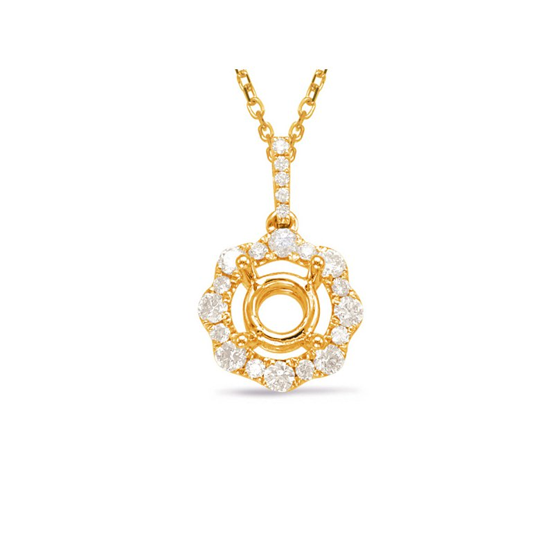 S. Kashi  & Sons Diamond Pendant For 1ct Round center