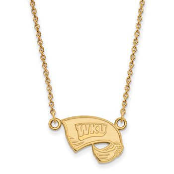 Gold-Plated Sterling Silver Western Kentucky University NCAA Necklace