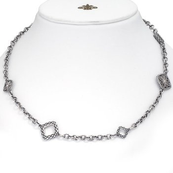 "Sterling Silver Link Necklace (36"")"