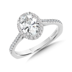 Valina Diamond Halo Engagement Ring Mounting in 14K White Gold (0.24 ct. tw.)