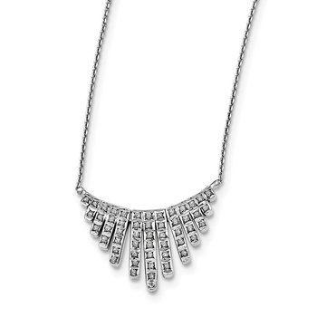 Sterling Silver Diamond Mystique 17in Necklace