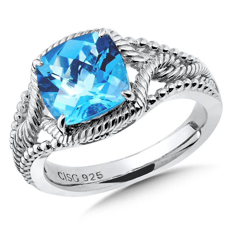 Colore Sg Sterling Silver Blue Topaz Ring