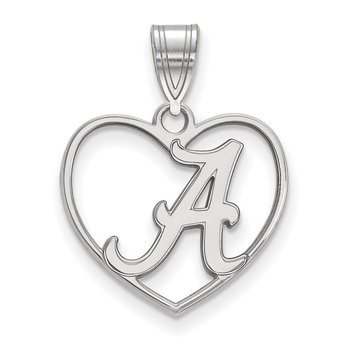 Sterling Silver University of Alabama NCAA Pendant