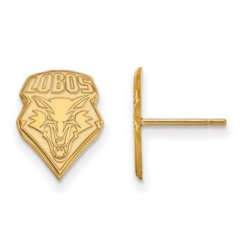 Gold University of New Mexico NCAA Earrings