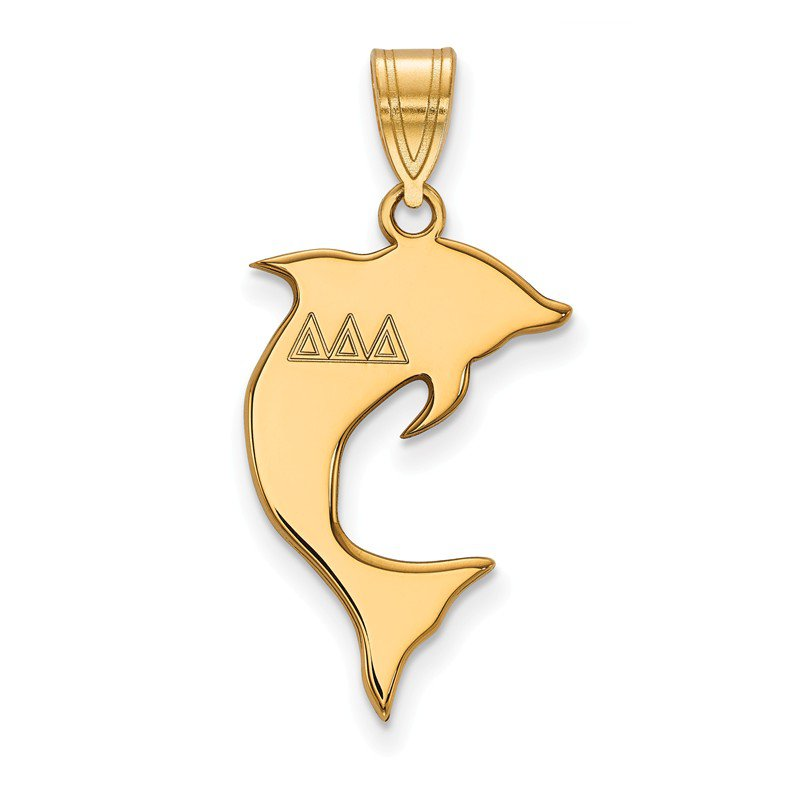 Greek Life Gold-Plated Sterling Silver Delta Delta Delta Greek Life Pendant
