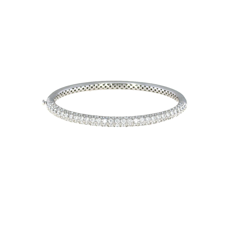 Roberto Coin  #25911 Of 18Kt Gold Bangle With Diamonds