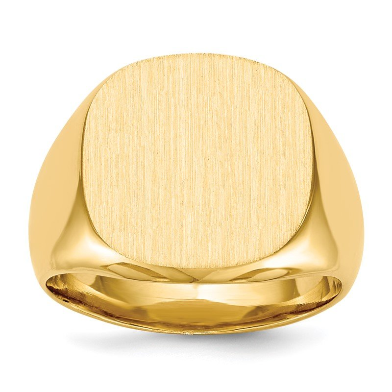 Quality Gold 14k 16.0x17.0mm Closed Back Men's Signet Ring