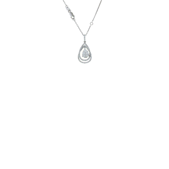 18KT WHITE GOLD DIAMOND TEAR DROP NECKALCE