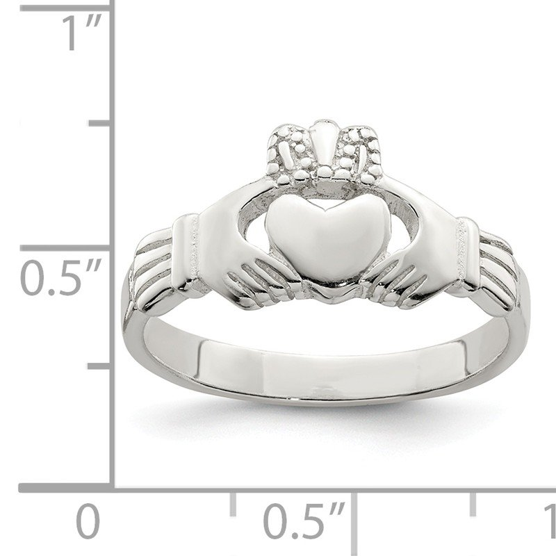 Quality Gold Sterling Silver Claddagh Ring