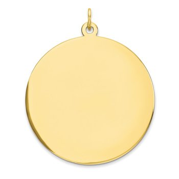 10K Plain .018 Gauge Circular Engravable Disc Charm