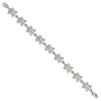 Sterling Silver Frogs Bracelet