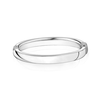 Smooth oval bangle